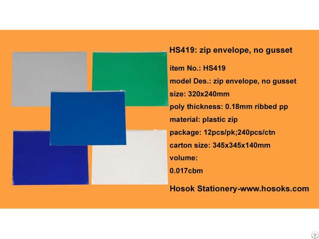 Hs419 Zip Envelope No Gusset