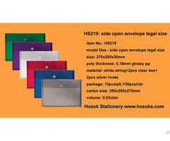 Hs219 Side Open Envelope Legal Size