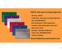 Hs219 Side Open Envelope Legal Size