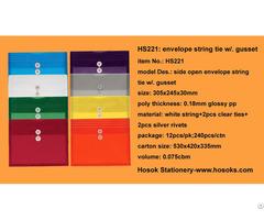 Hs221 Side Open Envelope String Tie W Gusset
