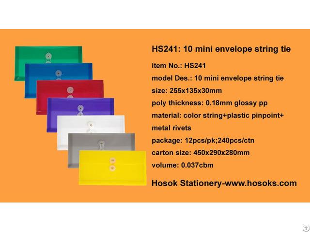 Hs241 10 Mini Envelope String Tie