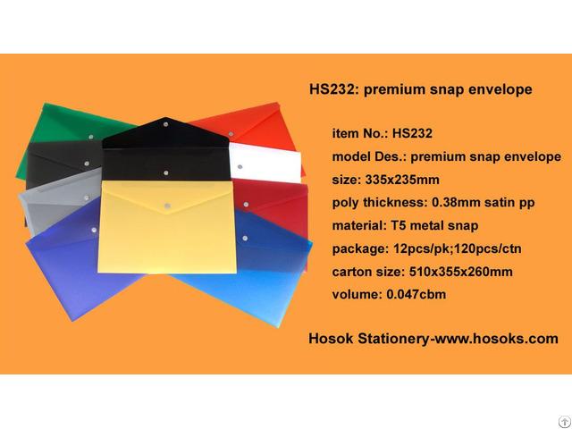Hs232 Premium Snap Envelope