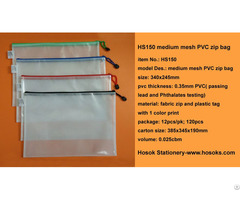 Hs150 Medium Mesh Pvc Zip Bag
