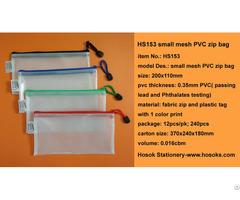 Hs153 Small Mesh Pvc Zip Bag