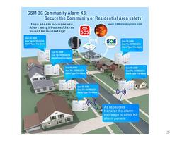 Gsm 3g Community Alarm With Alert Neighbors