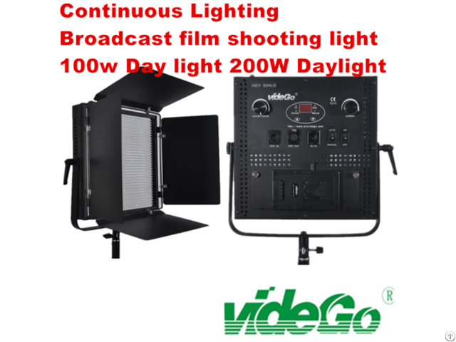 Vidego Led Video Panel Light Bi Color 1x1 100w Broadcast Film Shooting Kits