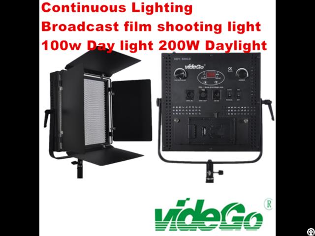 Vidego Led Video Panel Light Bi Color 1x1 100w Broadcast Film Shooting Kits