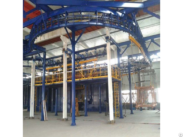 Pass Through Monorail Shot Blasting Machine