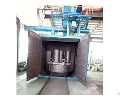 Swing Table Shot Blasting Machine For Iron Steel