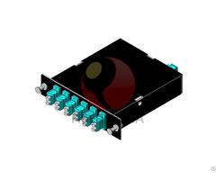 Mtp Female To Lc Duplex Multimode Om3 Cassette 12 Fiber 6 Ports Fully Loaded
