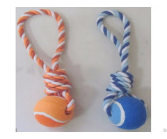 Pet Toy Rope With Tennis 2165