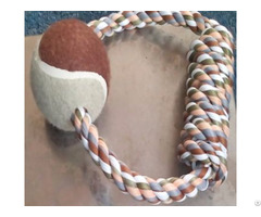 Pet Dog Toy Rope With Tennis Ball 2168