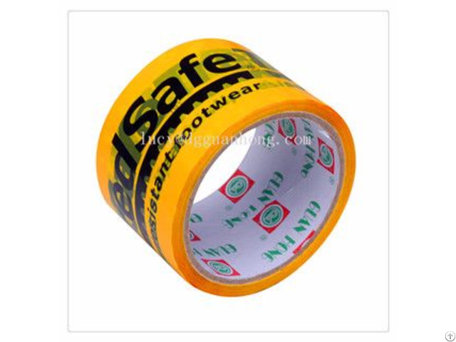 Printed Adhesive Packaging Tape Bopp Sensitive High Impact Resistance