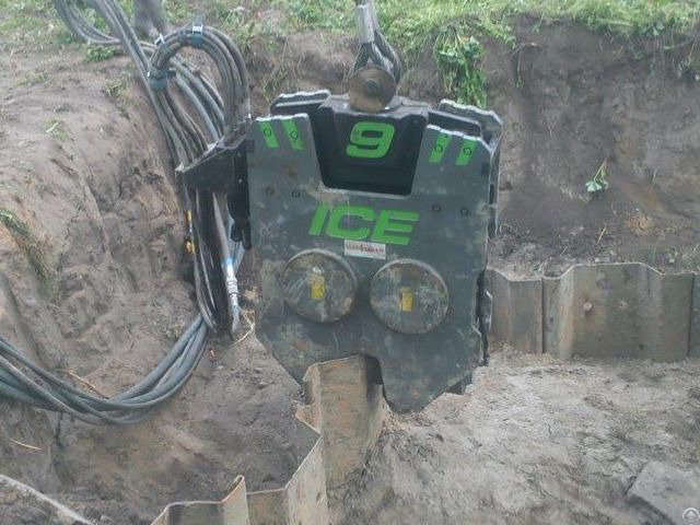 Used Vibro Hammer Ice Emv9 Excavator Mounted