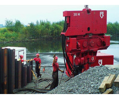 Pve 38m Used Vibro Hammer To Work On A Crane Or Piling Rig