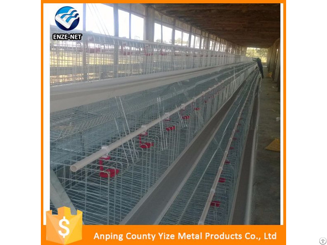 Steel Mesh Prefabricated Egg Layer Chicken Farm Design Battery Cages