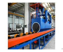Steel Pipe Shot Blasting Machine Surface Cleaning