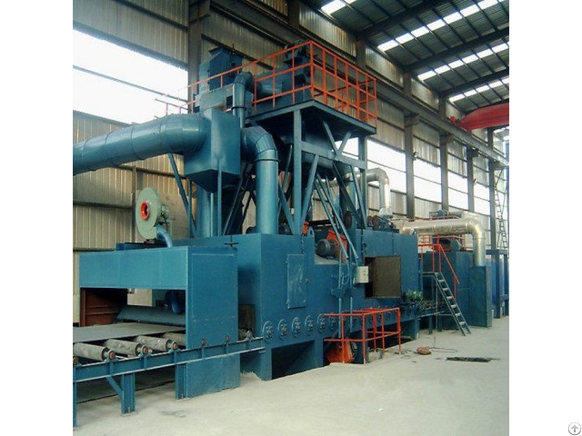 Steel Plate Preservation Line Blasting Painting Drying