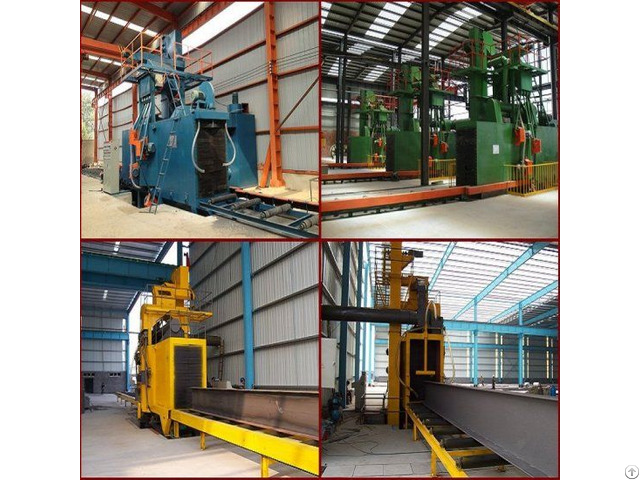 Steel Structure Shot Blasting Machine Paint Preparation