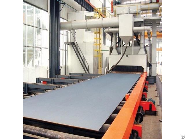 Steel Plate Shot Blasting Machine Automatic Compact