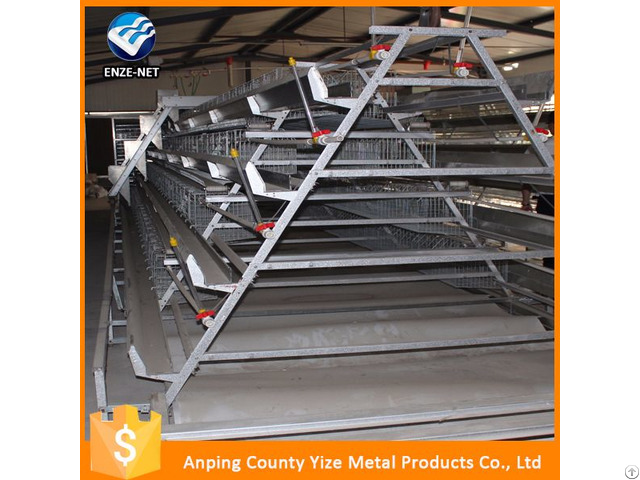 Four Tier Chicken Layer Battery Cage For Tanzania Poultry Farm