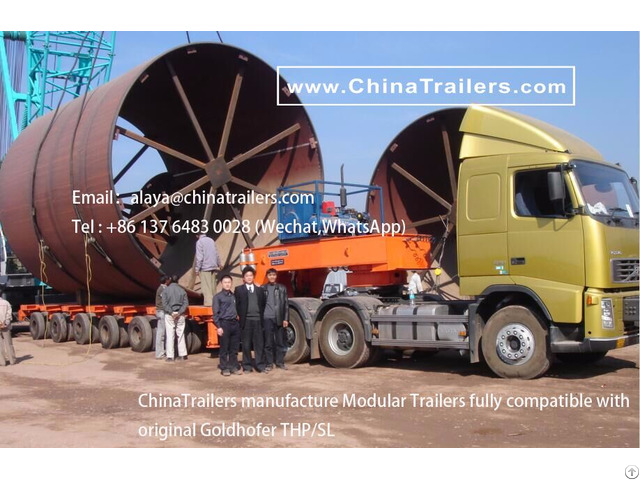 Goldhofer Thp Sl 6 Model Modular Trailer Manufactured By Chinatrailers For Brazil