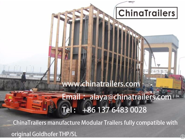 Chinatrailers Modular Trailer Compatible With Goldhofer Thp Sl For Peru