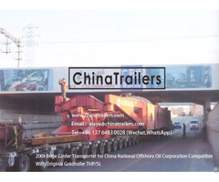 Chinatrailers Brige Girder Transporter Compatible With Goldhofer Thp Sl For Colombia