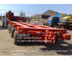 Goldhofer Modular Trailer Multi Axle Manufactured By Chinatrailers For Canada