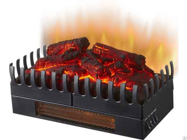Electric Fireplace Log Set Insert With Heater