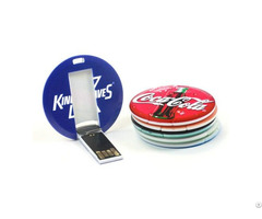 Round Card Usb Flash Drive