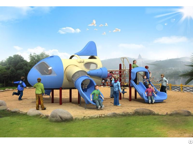 Modern Aircraft Series Outdoor Playground Equipment Wd Fj009