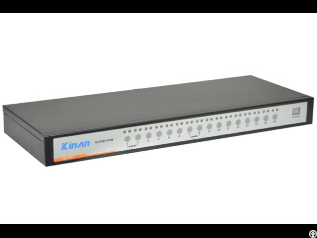 Kinan Xu0116 Rack 16 Port Usb Analog Kvm Switch
