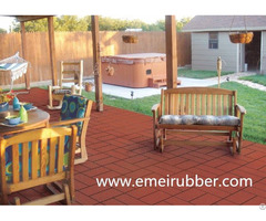 Recycled Colors Rubber Brick For Garden