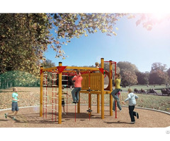 Hot Selling Outdoor Playground Equipment Wooden Series Wd Tm136