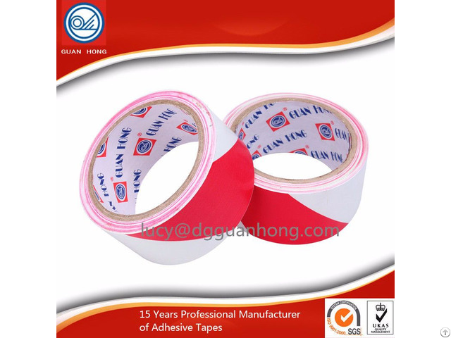 China Pvc Red And White Warning Tape Manufacturer