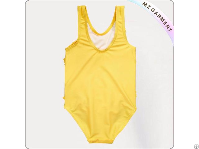 Girls 3d Flowers Swimsuit