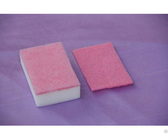 Cleaning Melamine Foam With Scouring Pads