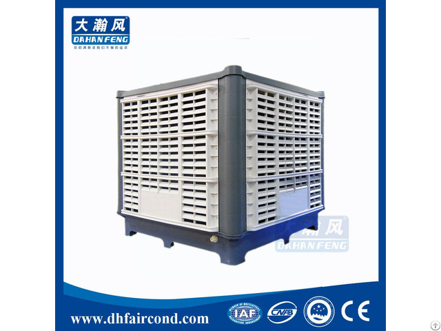 Industrial Fan Conditioner Two Stage Roof Mounted Evaporative Air Cooler Water Pump