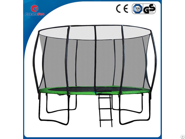 12ft Jumping Trampoline With Glass Fiber Pole