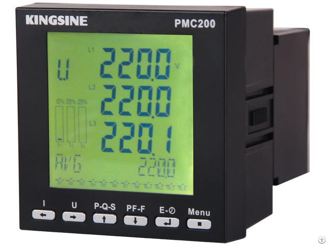 Three Phase Volt Amp Hz Watt Multifunctional Digital Power Meter