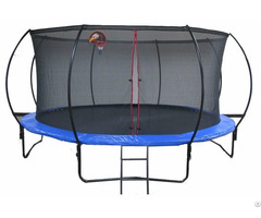 Big Round Trampoline With Enclosure