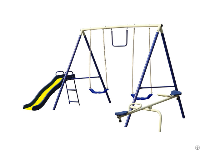 Combo Metal Swing Set For Backyard