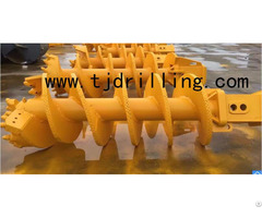 Double Cut Rock Auger With Collar Plate