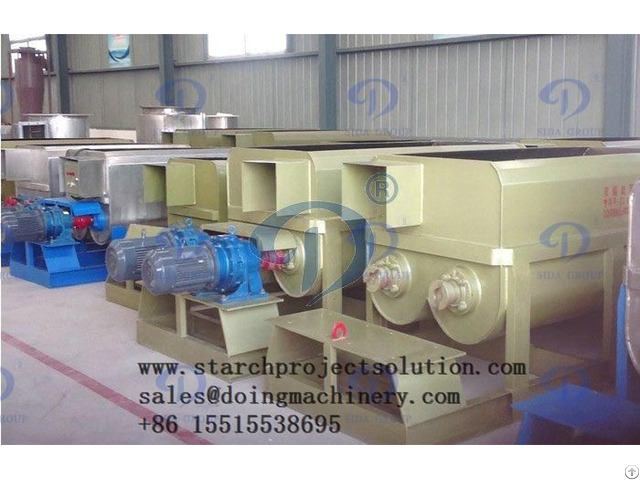 Vacuum Dehydrator In Starch Processing Line
