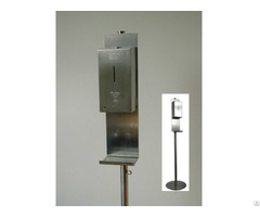Stainless Steel Automatic Soap Spray Dispenser With Floor Standing