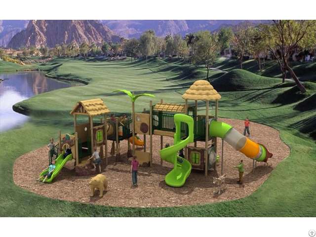 High Quality Outdoor Playground Equipment With Combined Slide Wd Sc110