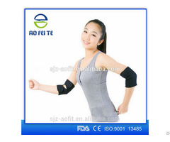 Promotional Orthopedic Medical Black Elbow Sleeve With A Pad Aft H003
