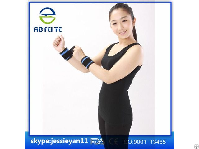 Factory Price Tourmaline Magnetic Wrist Brace Elastic Fabric Cloth Aft H004