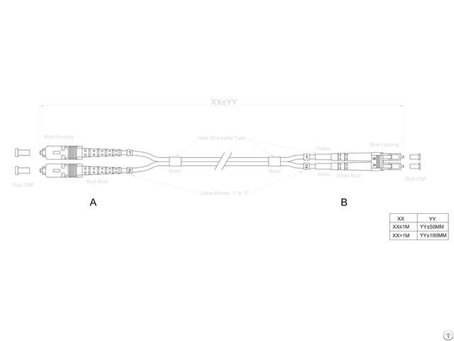 Sc Lc Fiber Optic Patch Cable
